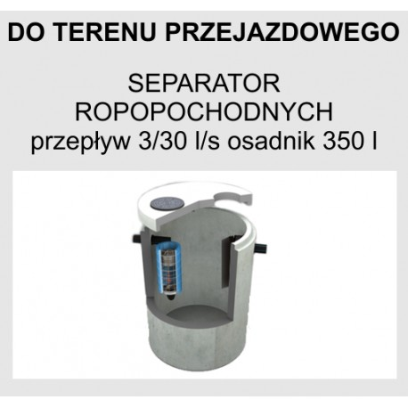 Najnowsze Separator substancji ropopochodnych betonowy z osadnikiem z by UB58